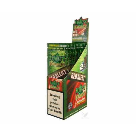 PAPEL HEMP WRAPS STRAWBERRY (RED) 25 U JUICY JAY'S