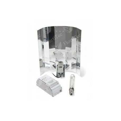 Kit Básico 1000 formado por balastro Eti, reflector liso o stuco, y bombillas Philips o Sylvania a elegir